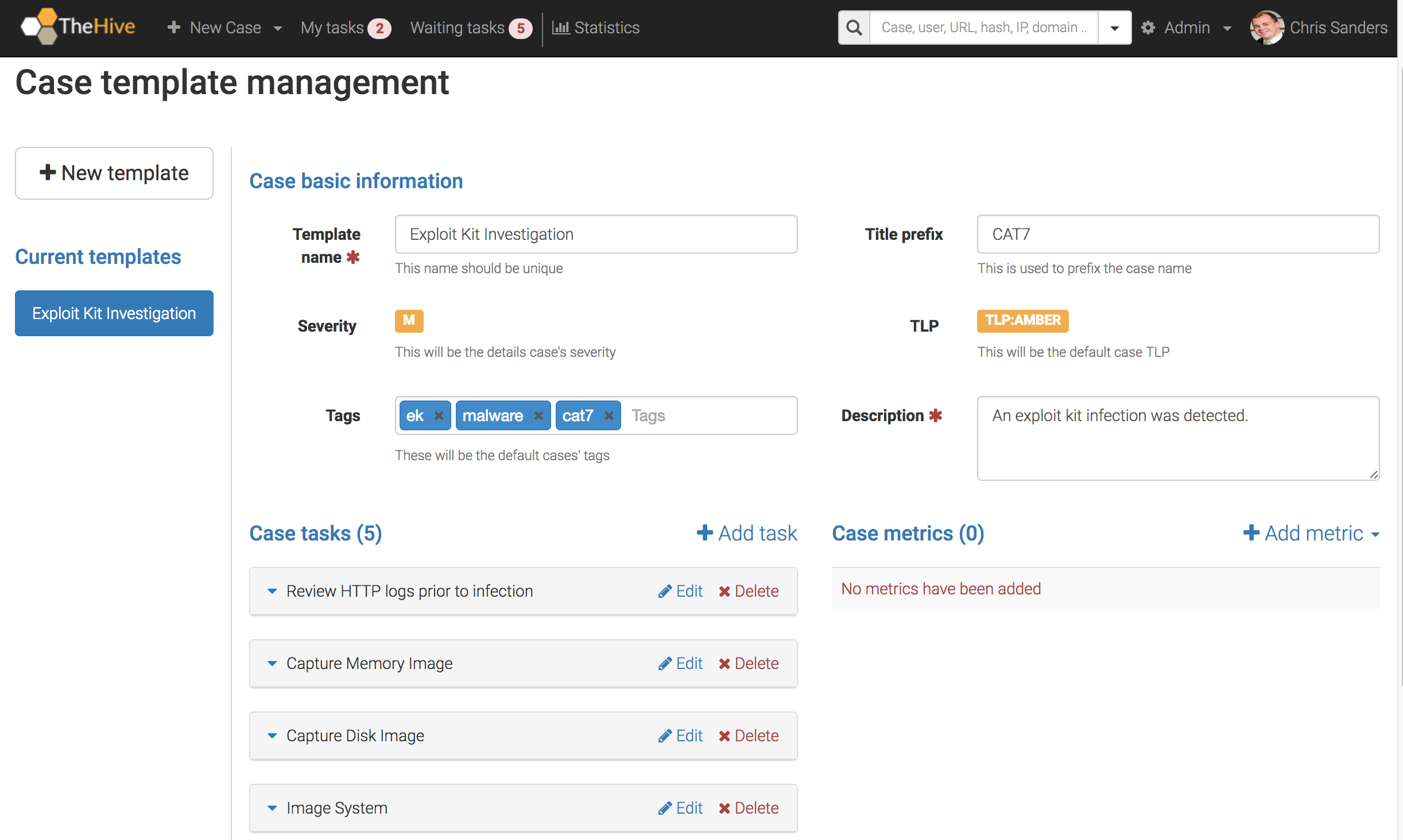 Investigation Case Management with the Hive | Chris Sanders