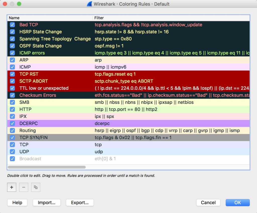 Colorizing Conversations in Wireshark   Chris Sanders